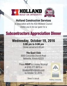 Holland Subcontractors Appreciation Dinner Invitation (2)