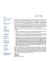 newsletter-July 2018
